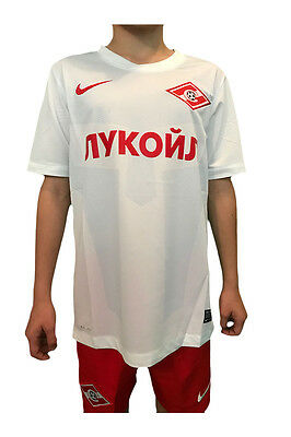 Spartak Moscow Nike Official Kids Football Short Sleeve Shirt White