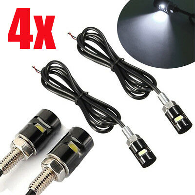 4X White Motorcycle Screwt SMD LED Bolt Lamp Car Universal License Plate Light