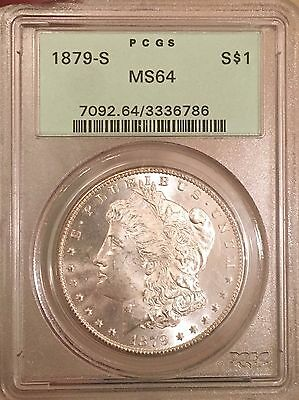 1879-S $1 Morgan Silver Dollar PCGS MS64.  OGH!