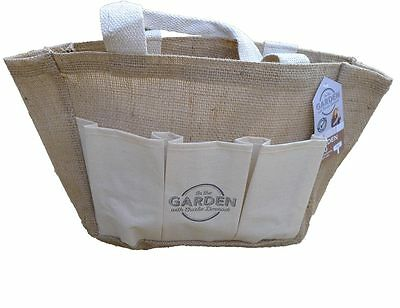 Garden Tool Bag Hessian Handle Pockets Multi Purpose by Charlie Dimmock