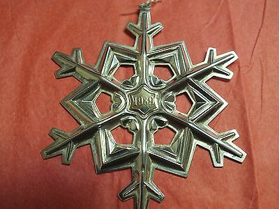 1989 Gorham Sterling Silver Gold Filled Yearmark Christmas Snowflake Ornament