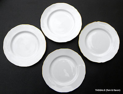 """Nordic Gold by Spode Bone China ~ England ~  4 Bread & Butter Plates ~ 6 3/8"""""""