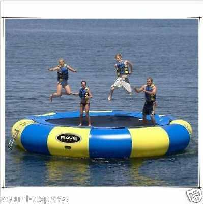 3-5M Diameter Inflatable Water Trampoline Bounce Swim Platform Lake Toy S
