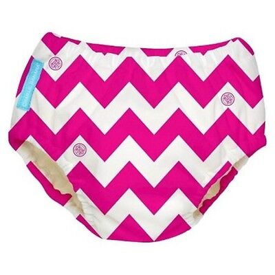 "Charlie Banana Reusable Swim Diaper Hot Pink Chevron Small ""New"""