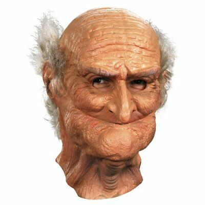 Realistic Old Man Mask Halloween Adult Scary Creepy Funny Grandpa Guise Costume