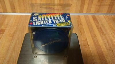 Vintage Duncan Satellite Lighted Yoyo,blue,new!