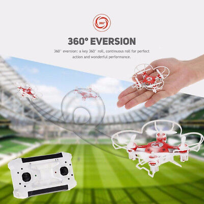 Mini Red FQ777 6-Axis Gyro Wifi FPV Pocket Drone With Camera RC Quadcopter Toy #