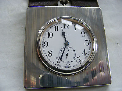 VERY RARE SILVER DESK CLOCK c1920s PERFECT WORKING ORDER BEAUTIFUL LOOKING