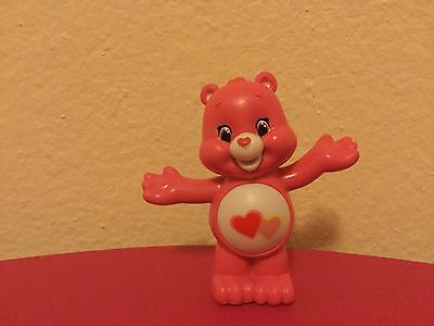 "2016 Care Bears & Cousins Series 4 2"" Love A Lot Bear Collectible Mini Figure"
