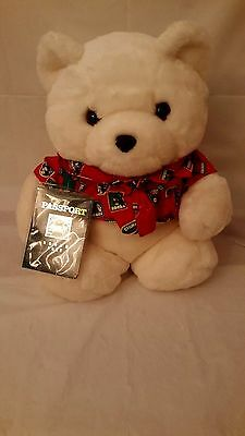 "Vintage Dayton Hudson Santa Bear ""World Traveler"" Passport / Stickers no bag"