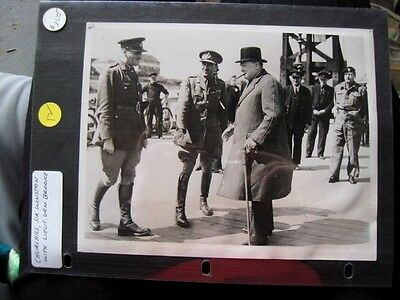 Worth $250! Photo of Sir Winston Churchill With Lieutenant General Brooke
