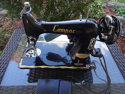 """VINTAGE COMPAC PORTABLE SEWING MACHINE  Made in JAPAN """"FOR REPAIR"""""""