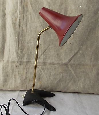 Ancienne Lampe Bureau Cocotte Robert Mathieu Design Annee 50