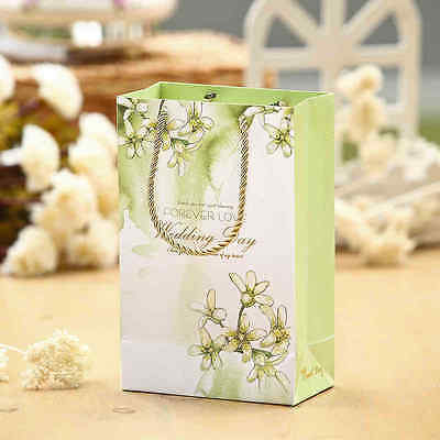 20 Pezzi Wedding Bag Borsa Sweet Love Con Manico Regalo Ospiti Tema Naturale