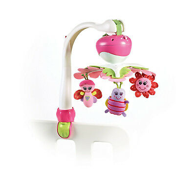 Baby Crib Mobile Infant Music Toy Kids Carrier Stroller Toys Nursery Decor Pink
