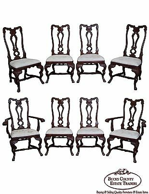 Habersham French Rococo Style Set of 8 Dining Chairs