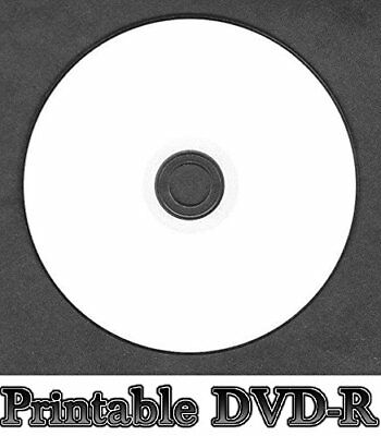 10x Blank White Inkjet Printable DVD-R Disc Full Face (16x 120min 4.7GB) DVD