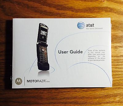 AT&T User Guide MOTORAZR V3xx **New and Sealed**