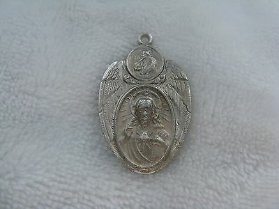 WWII Catholic Religious 925 Stering Silver Blessing Charm Medal Pendant