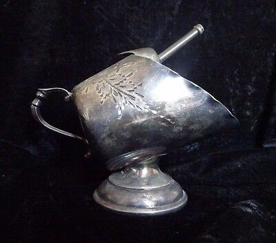 Antique Two Piece Sterling Plated Sugar Scoop - FREE SHIPPING