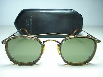 Vintage 1980's Oliver Peoples MP-12 Sunglasses 1st Generation Clip Ons 48mm Rare