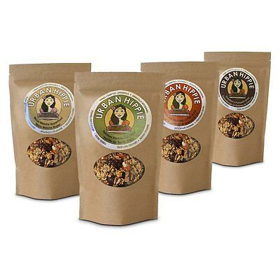 4 Flavor Variety Pack - #1 Organic Gluten Free Natural Cereal Granola