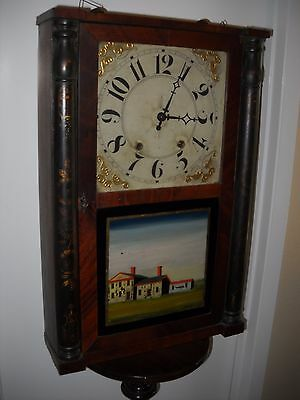 Wooden Works Antique Mantle Clock....late 1700's  Very Rare