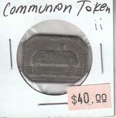 Canadian Communion Token - Lord's Supper Table Bread Wine - Ex Tanenbaum - ii