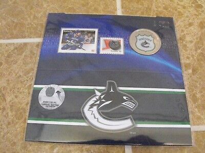 Canada 2014 Vancouver Canucks 25 Cent Coin and Stamp Set