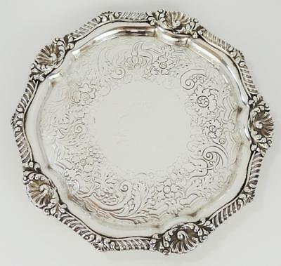 Stunning OLD SHEFFIELD PLATE WAITER TRAY c1810 R. GAINSFORD