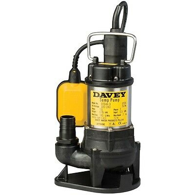 Davey D15VA Automatic Vortex Submersible Drainage Sump Pump