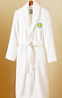 Authentic Hotel & Spa Smithsonian Turkish Terrycloth Bath Robe Large Unisex L XL