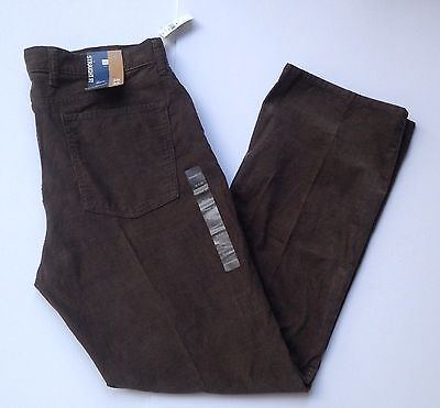 NWT Gap Straight Fit Corduroy Pants Brown Men's 36 X 32 Work or Casual