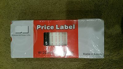 Price Label White Best Before 25 rolls 22mmx12mm BNWT sealed free post E32