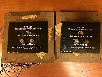 Pair Of Electro Voice Evs-15B X-Overs-Totaly Re-Capped-700 & 3000 Hz X-Over Fre