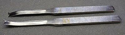 STORZ~N4376 Right Silver Osteotome w/Guard & N4377~Left Silver Osteotome W/Guard