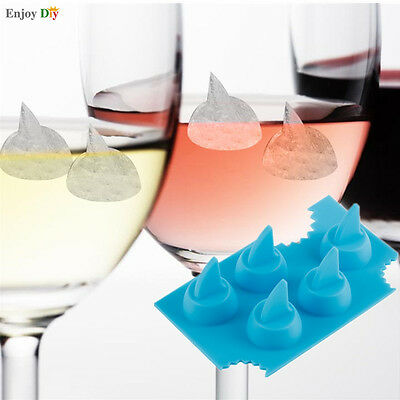 Silicone Ice Cube Shark Fin Tray Bar Jelly Chocolate Cake Mold Maker New Style