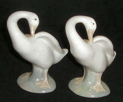 LLADRO NAO - 2 x GEESE FIGURINES - NUMBERED PIECES - HANDMADE IN SPAIN -