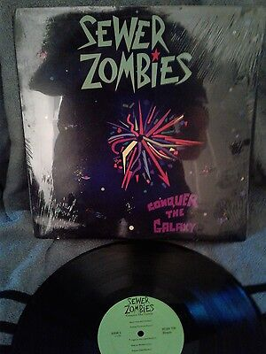 Sewer Zombies Conquer the Galaxy LP Vintage punk rock vinyl record RARE