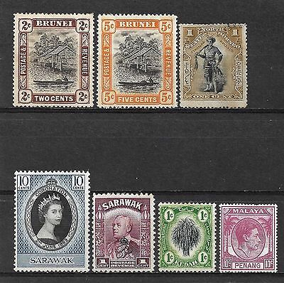MALAY STATES & BRUNEI 1897-1953 Small Mint & Used Lot.
