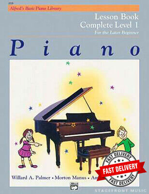 Alfred's Basic Piano Lesson Book  Complete Level 1 - For The Later Beginner*New*