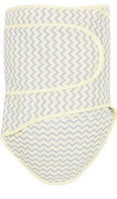 Miracle Blanket Swaddle Chevrons with Yellow Trim