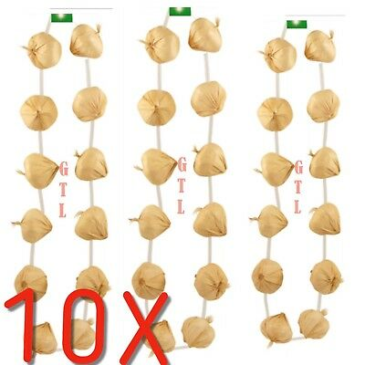 10X Garlic Garland String Necklace French Fancy Dress French Costume Accessory