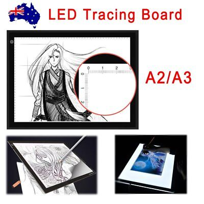 A3/A2 LED Light Box Tracing Board Art Design Stencil Drawing Pattern Copy Pad IN