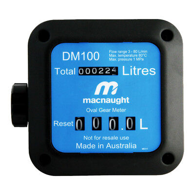 "Macnaught Fuel Meter 1"" BSP(F) ports DM100-01"