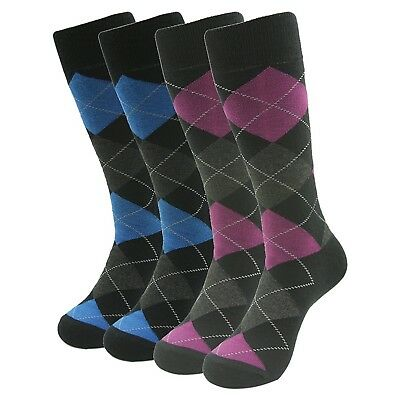 (Mix 9) - SUTTOS Elite Men's Funky Dress Socks Colourful,4 Pairs with Happy Gift