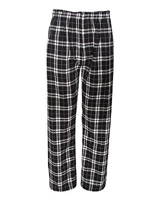 (X-Large, Black/ White) - Boxercraft mens Classic Flannel Pants (F24). Shipping