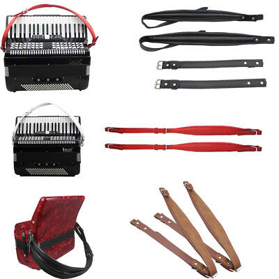 New 2PCS Adjustable Length Thick PU Leather Accordion Leather Shoulder Straps UK