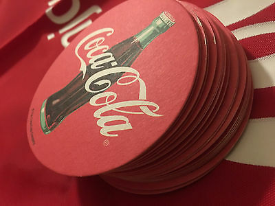 Coca Cola Paper Bar Coaster Double SIded Vintage-SOLD @ bundles of 6PC