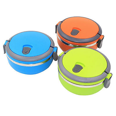 1 Layer Thick Stainless Steel Thermal Insulated Lunch Box Food Picnic Container